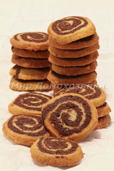 Шоколадно-ванильное печенье Спиральки