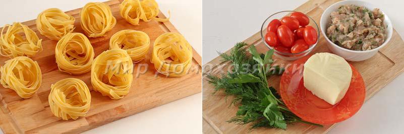 Гнезда с фаршем в духовке - ингредиенты