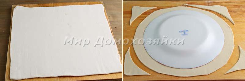 Слоеный пирог с нутеллой - раскатка теста