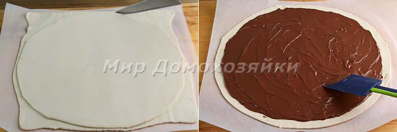 Слоеный пирог с нутеллой - начинка