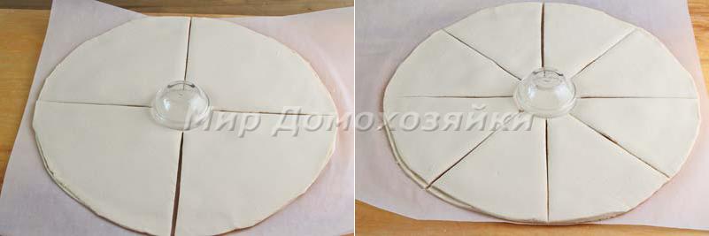 Слоеный пирог с нутеллой - разрезка