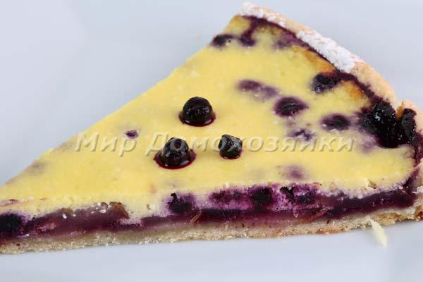 Песочный пирог с грушами - нежный и вкусный
