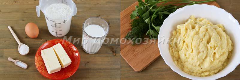 Кыстыбый с картошкой - ингредиенты