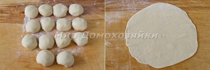 Кыстыбый с картошкой - тесто