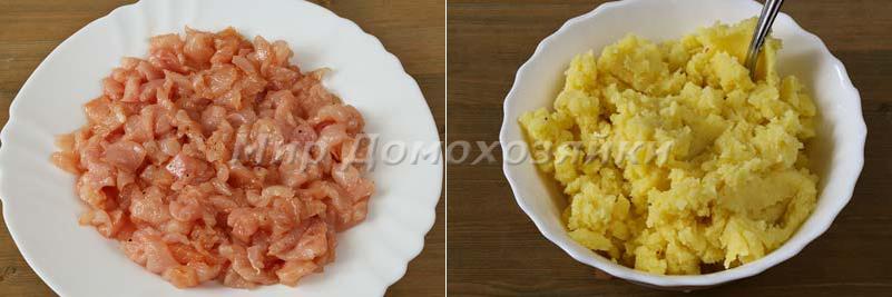 Ингредиенты для запеканки из куриного филе с картошкой