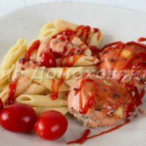 Котлеты запеченные в духовке в томатном соусе