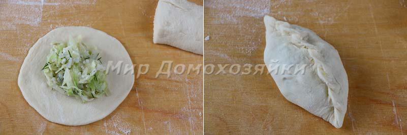 Пирожки с капустой - традиционной формы
