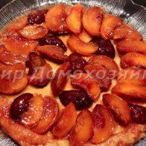 Тарт татен с персиками