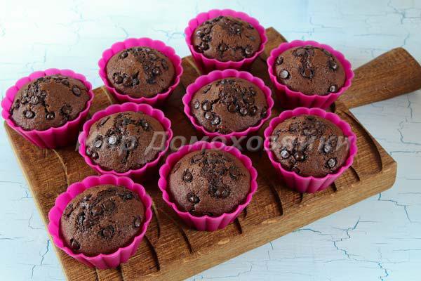 Шоколадные кексы без яиц готовы!