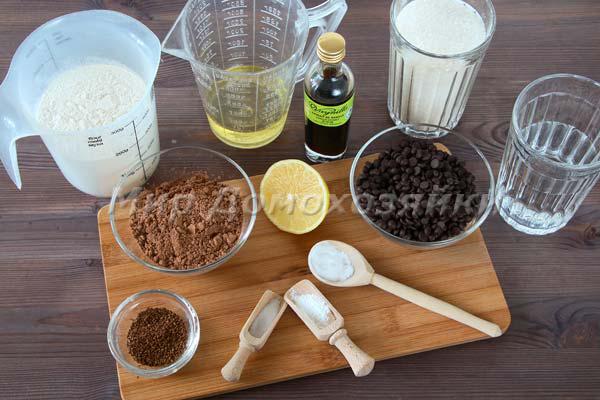 Шоколадные кексы без яиц - ингредиенты