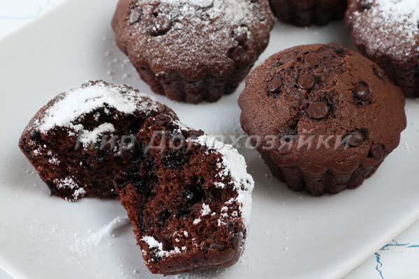 Шоколадные кексы в разрезе