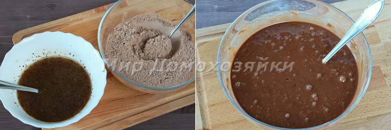 Шоколадные кексы - тесто