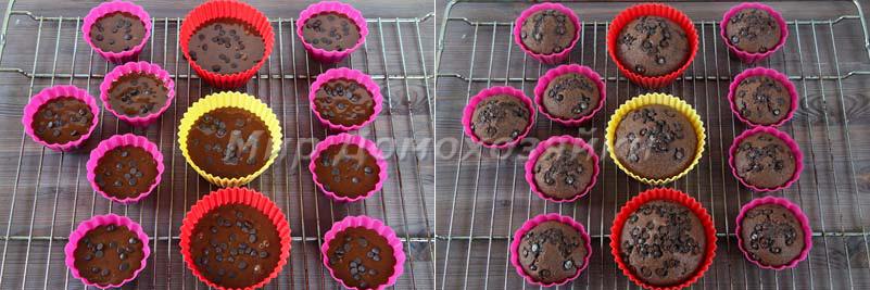 Шоколадные кексы без яиц - выпечка