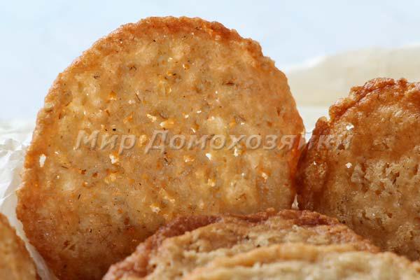 Печенье из геркулеса прозрачное