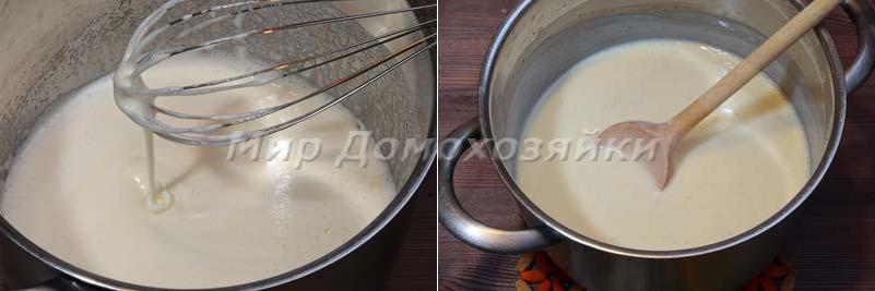 Торт медовик - заварной крем