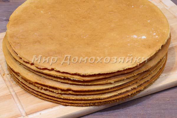 Торт медовик - выпечка коржей