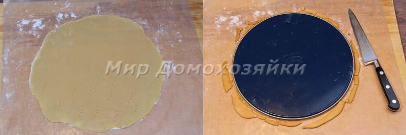 Торт медовик - раскатка и обрезка коржей