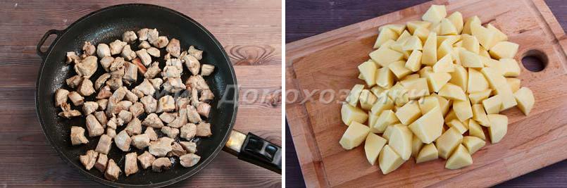 Жаркое из филе бедра индейки - подготовка