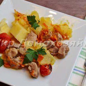 Жаркое из индейки в горшочке - филе бедра