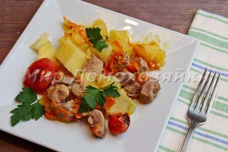 Жаркое из филе бедра индейки в духовке