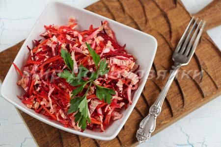 Салаты со свеклой - салат Метелка