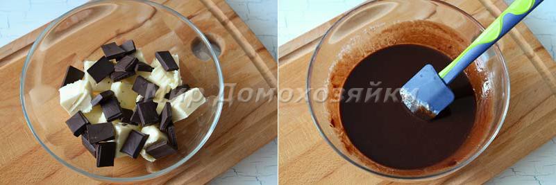 Шоколадные кексы брауни - тесто