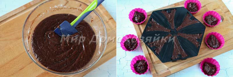 Шоколадные кексы брауни - выпечка