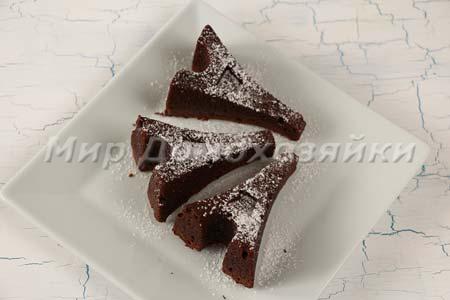 Шоколадные кексы брауни в форме Эйфелевой башни