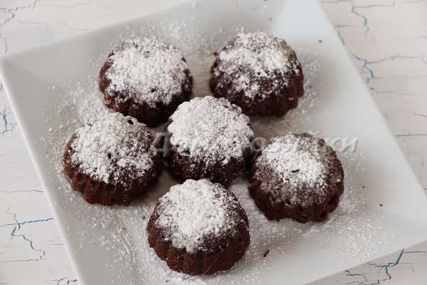 Шоколадные кексы брауни - круглые