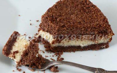 Творожный пирог с песочной крошкой торфяной