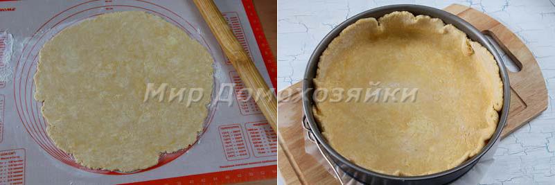 Пирог со щавелем и творогом - корж