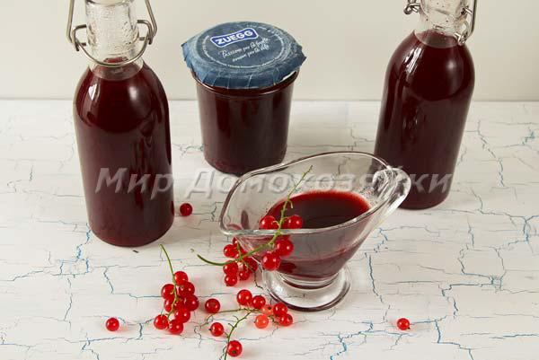 Соус к мясу из красной смородины - разлить по бутылочкам