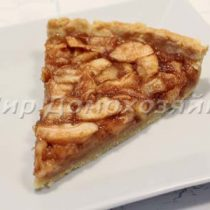Тарт с яблоками. Песочная основа для тарта
