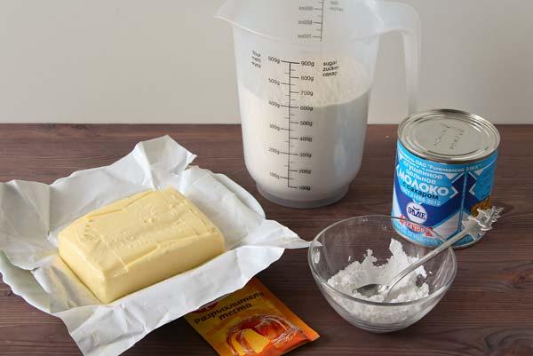 Печенье со сгущенкой - ингредиенты